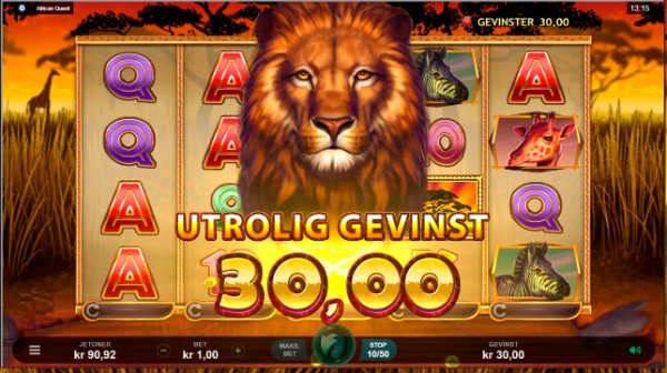 Mega Casino African Quest big win