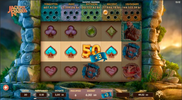 Mega Casino  Jackpot Raiders 3x multiplier