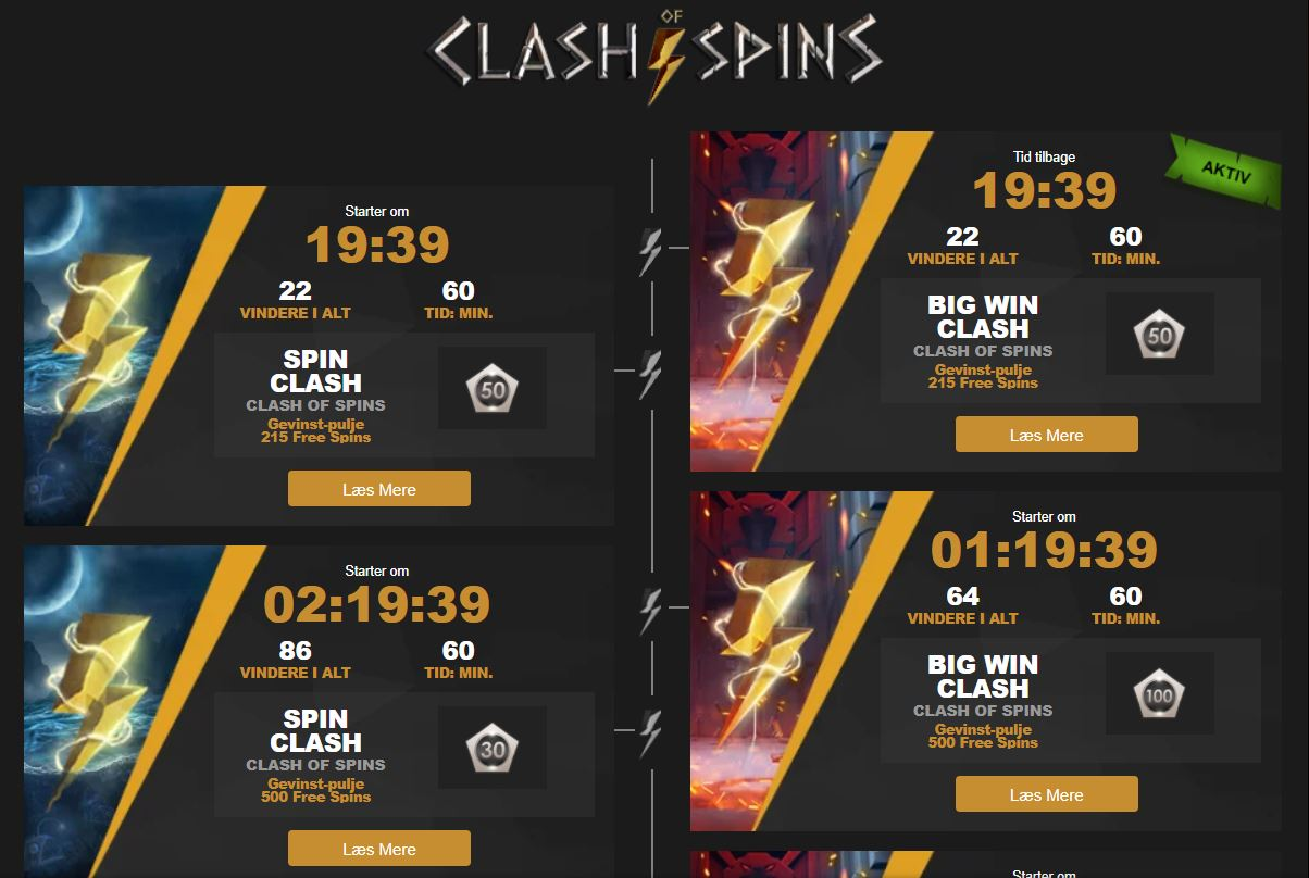 Clash of Spins-kampagnen